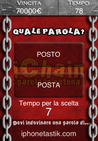Screenshot iChain – Parole in catena