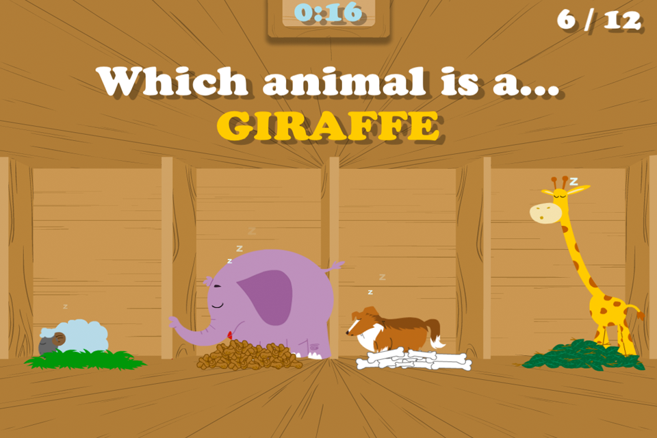 Screenshot Noah's Ark Animal Name Matching Game – Fun and Interactive in HD